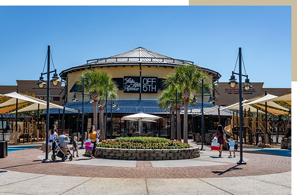 Exterior of Saks Fifth Avenue Off 5th at Silver Sands Premium Outlet